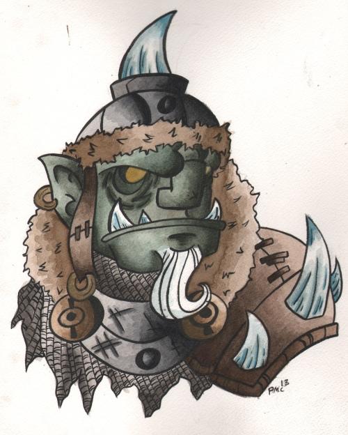 Orc Chief Watercolor